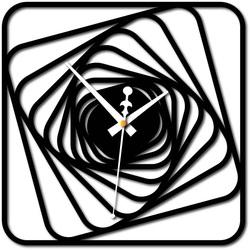 Stylesa - Nástenné hodiny Desing plexisklo HARBOR i čierne X0093