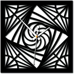 Stylesa - Moderné nástenné hodiny mozaika plexisklo i čierne X0082