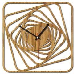 Sentop - MDF Moderné nástenné hodiny GARVI HD F015 i čierne