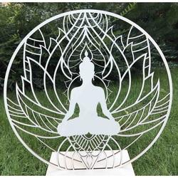 Stylesa - Drevený obraz na stenu Buddha mandala PR0351 i zlatý