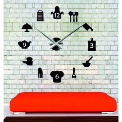 Sentop- veľké nástenné hodiny nalepovacie do kuchyne i čierne SZ066