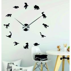 Sentop - Zrkadlové nástenné hodiny veľké  DINOSAURY i čierne SZ067