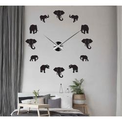 Sentop - Moderné nalepovacie nástenné hodiny na stenu slon i zlaté SZ070