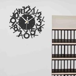 Sentop - Moderné nástenné hodiny SAJFA PR0355 I čierne