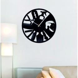 SENTOP - Moderné nástenné hodiny do salónu OMARR i čierne X0098