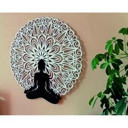 Sentop - Mandala 3D obraz na stenu Buddha mandala farebné prevedenie