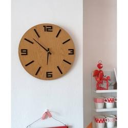 Sentop - MDF Nástenné hodiny ARRARA aj čierne čísla HDKF020