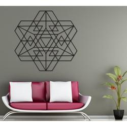 Stylesa Geometrische Malerei auf einer Wand aus Holzsperrholz