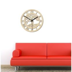 Sentop - Drevené hodiny  strom života rímske čísla aj čierne PR0365