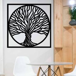 Sentop - Fa kép a fa falán egy keretben