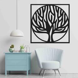 Stylesa - Holzgemälde an einer Baumwand in einem Rahmen UASVED