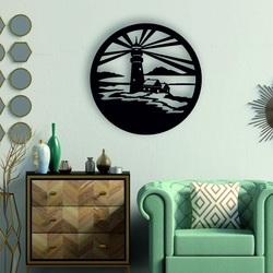 Sentop - Maják moderní obraz na stěnu - dřevěná dekorace