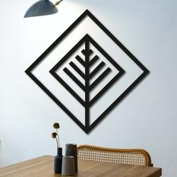 Moderný obraz na stenu - drevená dekorácia štvorec ATALY | SENTOP