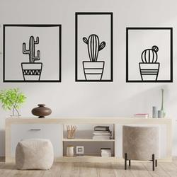 Štýlový trojdielny obraz na stenu - KAKTUSY | SENTOP