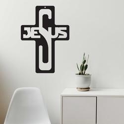 Fa dekoráció - Jézus, méret: 260x187 mm
