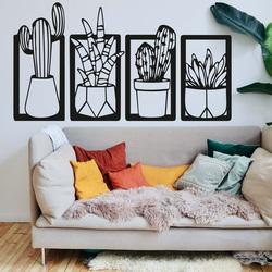 Stylový čtyřdílný obraz na stěnu - CACTACEAE | SENTOP
