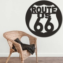 Drevený obraz na stenu U.S. ROUTE 66 | SENTOP
