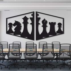 Elegantný obraz na stenu šachové figúrky - MIVAL | SENTOP