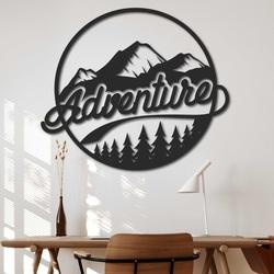 Drevený obraz na stenu s prírodným motívom - ADVENTURE | SENTOP