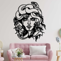 Magisches Gemälde an der Wand Frau - MEDUSA GORGONA   SENTOP