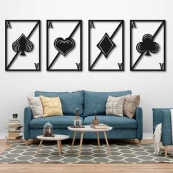 Originálny štvordielny obraz na stenu - HRACIE KARTY | SENTOP