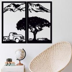 Vyrezávaný dvojdielny obraz na stenu - príroda - BULISA | SENTOP