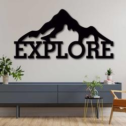 Vyrezávaný obraz z dreva - EXPLORE | SENTOP