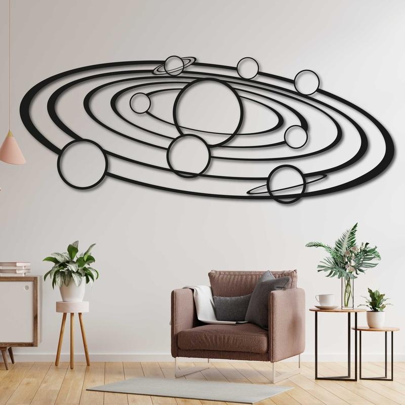 Moderný obraz na stenu slnečná sústava - SOLAR | SENTOP