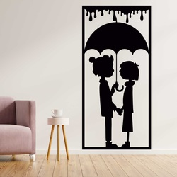 Romantisches Bild an der Wand eines Liebespaares - LIEBE   SENTOP