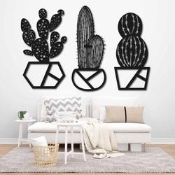 Moderný trojdielny obraz na stenu - KAKTUSLAR | SENTOP
