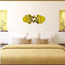 Abstraktné kruhy zlaté  Rozmer : 60x 40 cm