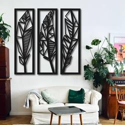 Moderný trojdielny obraz banánové listy - MUSACEAE | SENTOP