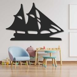 Vyrezávaný obraz na stenu drevená plachetnica - MARINER | SENTOP