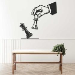 Elegantní dvoudílný obraz šachový design -  ŠACHMAT| SENTOP
