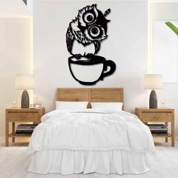 Roztomilý obraz na stenu sova v šálke - ROZÁLKA | SENTOP
