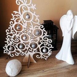 Drevený vianočný strom prírodné drevo - 40 cm, 50 cm a 70 cm| SENTOP   PR0439