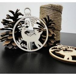 Jelenček vianočná ozdoba z dreva, rozmer: 79x90 mm PR0009