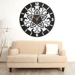 Drevené hodiny - ornamenty prírodné aj farebné   SENTOP PR0441