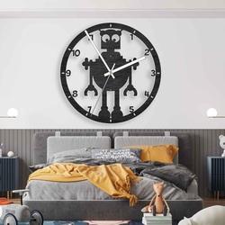 Drevené hodiny Robot pre deti čierne aj farebné | SENTOP PR0442