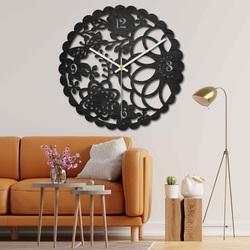 Drevené hodiny na stenu - motýlia lúka - čierne aj farebné   SENTOP PR0445