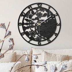 Drevené hodiny - ľúbezná príroda - čierne aj prírodné   SENTOP PR0446
