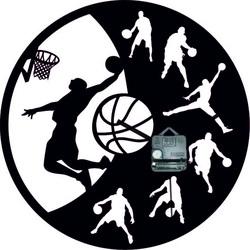 Drevené hodiny - Basketbal - Čierne aj farebné | SENTOP PR0449