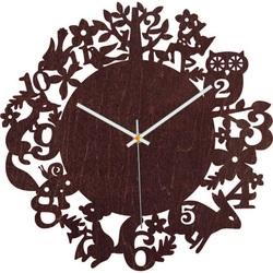 Hodiny z dreva - Lesné zvieratá - Čierne aj farebné | SENTOP PR0451