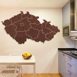 Drevená nástenná mapa Česká republika - 14 dielikov | SENTOP M002