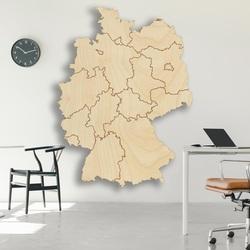 Drevená nástenná mapa Nemecko - 16 dielikov | SENTOP M004