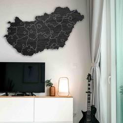 Drevená nástenná mapa Maďarsko - 40 dielikov | SENTOP M005