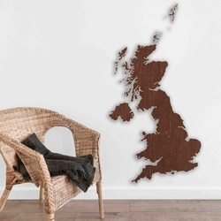 Drevená mapa na stenu Spojené kráľovstvo | SENTOP M007