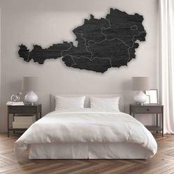 Drevená mapa na stenu Rakúsko - 10 ks | SENTOP M008