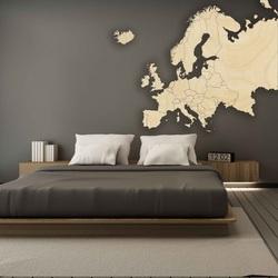 Drevená mapa na stenu Európa | SENTOP M009