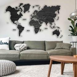 Nástenná mapa z dreva - celý svet | SENTOP M012